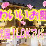 かわいい 1LDK北欧風アパート[岡山市北区白石東町]