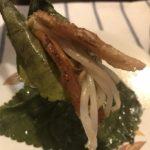 韓国料理 エゴマと豚トロのおつまみ