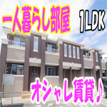 [おしゃれな部屋]一人暮らし ペット賃貸1LDKアパート