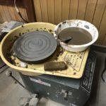 備前焼 体験 茶器とお皿を電動ろくろで作成