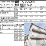 不動産投資物件4棟 一括売却 岡山市北区伊島町